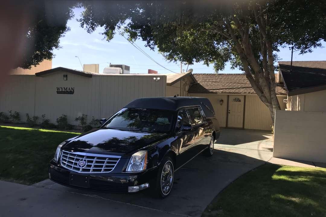 Wyman cremation hearse