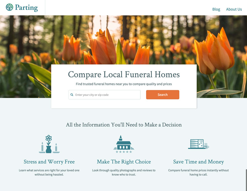 compare funeral homes on parting.com